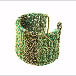 Ombre Threaded Chain Cuff